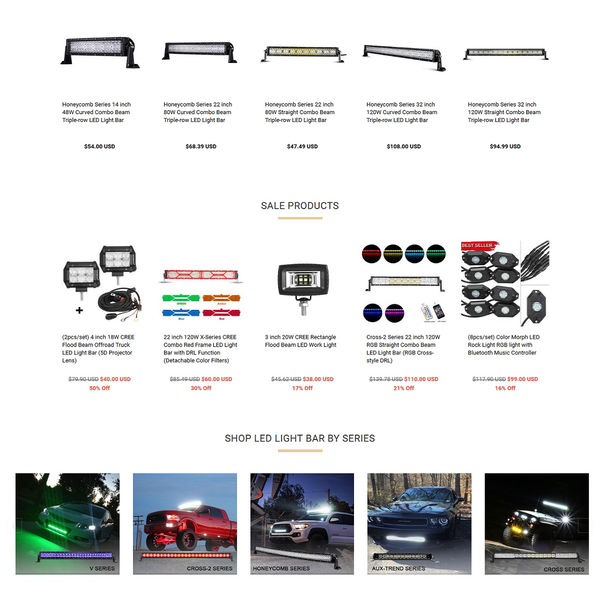 Shopify Store for Auxbeam