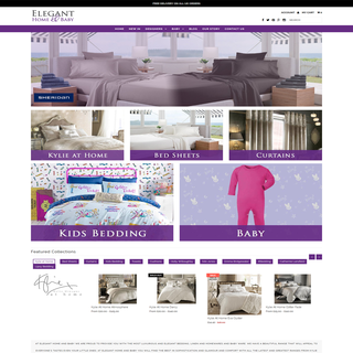 Full website set up. Social Media Marketing. www.eleganthomeandbaby.com