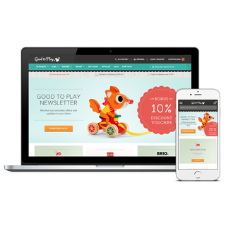 Good To Play Toy Store. Fully responsive with integration with  Bronto email solution