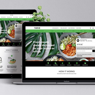 THR1VE Shopify Ready Made Meals site