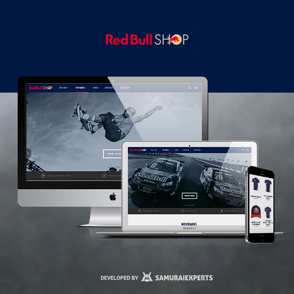 Shopify Store - Redbullshop.com.br - Custom checkout experience