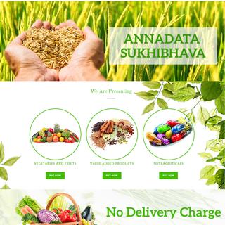 Online market for vegetables and fruits