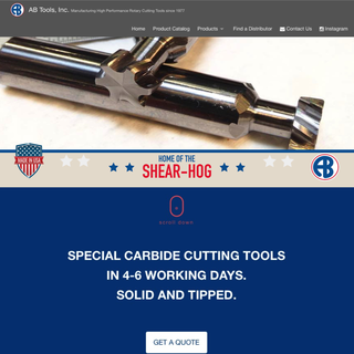 AB Tools Inc. - National Manufacturer of Carbide Cutting Tools.
