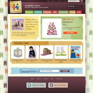 Rawsterne Web Design & Illustration - Ecommerce Designer / Developer / Setup Expert - Mulberry Road - Children's Boutique