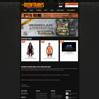 Rawsterne Web Design & Illustration - Ecommerce Designer / Developer / Setup Expert - Iron Tanks