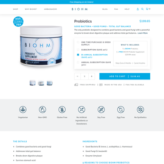 Biohm Health - Shopify CRO/UX Optimization