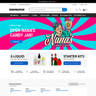 The Vapor Shoppe USA - Shopify Website Design