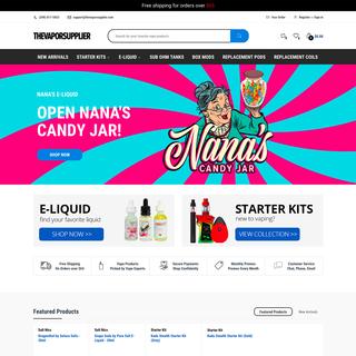 The Vapor Supplier - Shopify Website Design