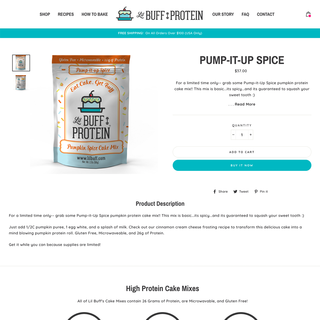 Lil Buff Protein - Shopify Website Design