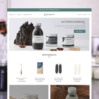 UX, Design and Shopify Development for Georganics - https://georganics.co.uk