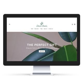 Complete Shopify Store Design & Set-Up for Dear Boni Plants