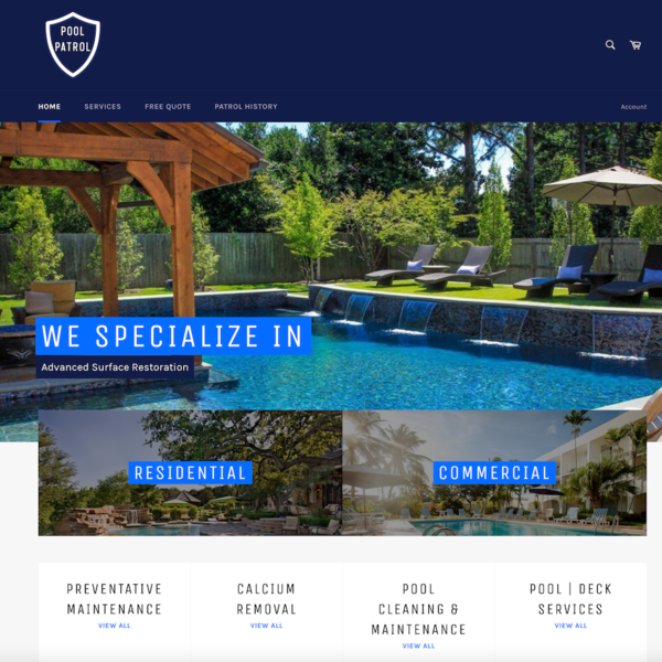 Pool Patrol Homepage