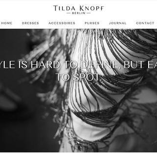 Adjustments and Development for Tilda Knopf