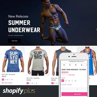 Supawear Shopify plus