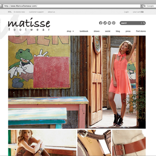 Sebring Creative, Inc - Ecommerce Designer / Developer / Photographer / Marketer / Setup Expert - Matisse Homepage
