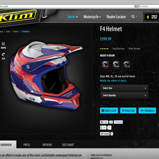 Sebring Creative, Inc - Ecommerce Designer / Developer / Photographer / Marketer / Setup Expert - Klim Product Detail