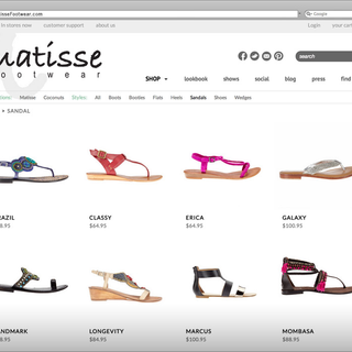 Sebring Creative, Inc - Ecommerce Designer / Developer / Photographer / Marketer / Setup Expert - Matisse Footwear Product Landing
