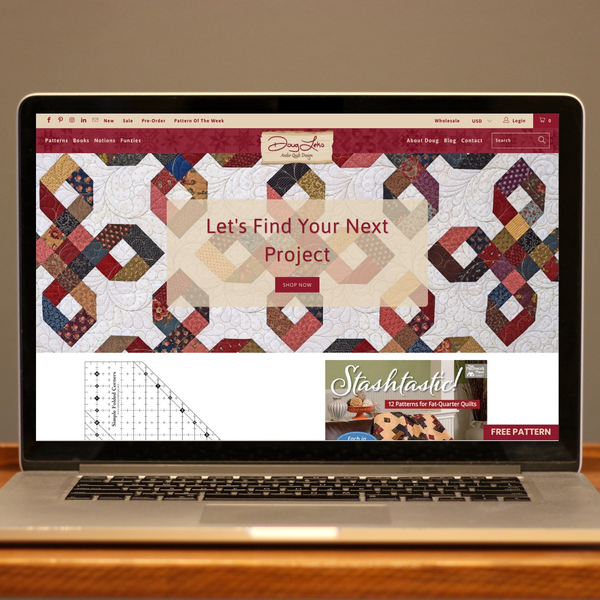 Antler Quilt Designs by Doug Leko launches new site to sell digital downloads.