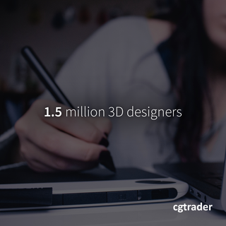 1.5 Million 3D Designers | CGTrader