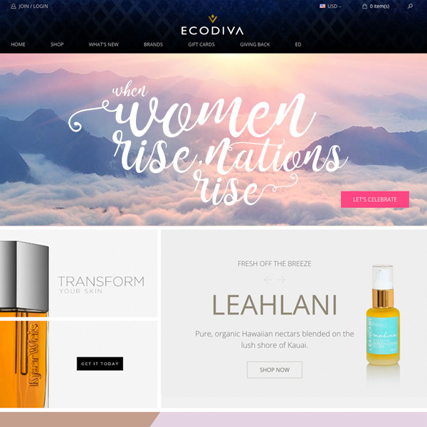 EcoDiva Beauty both US and CAN stores