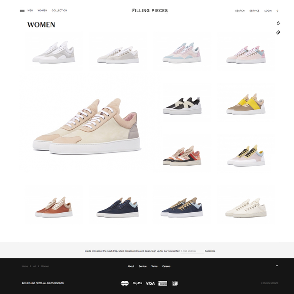Filling Pieces → Multiple custom designs + coding from 2014 to 2018