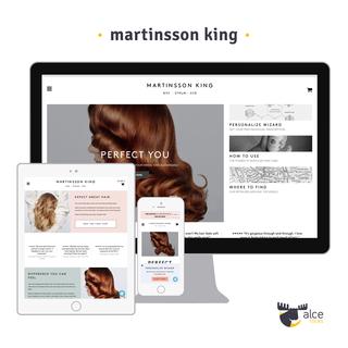 Swedish brand for modular hair care (https://martinssonking.com/)