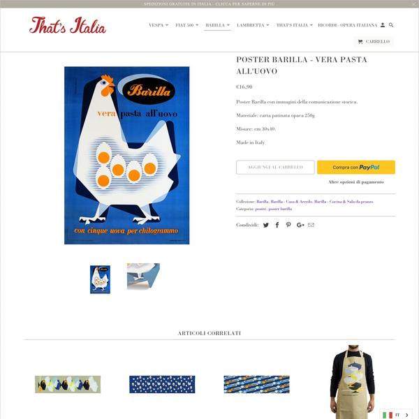 thatsitalia.eu - product page with Paypal Express Checkout