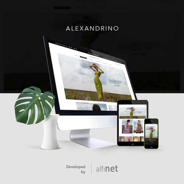 E-commerce da marca Alexandrino