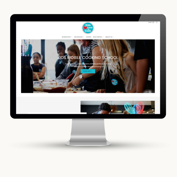 Kids Love to Cook - Shopify store setup and page customisation
