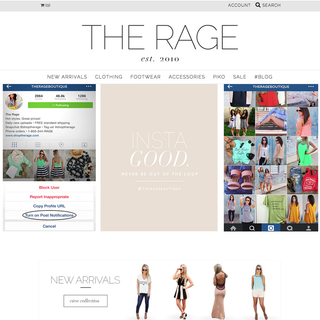 shoptherage.com | custom web design/logo