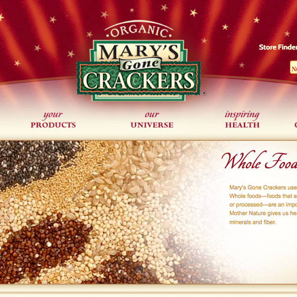 Marys Gone Crackers: eCommerce, uses cutting edge examples of jQuery work