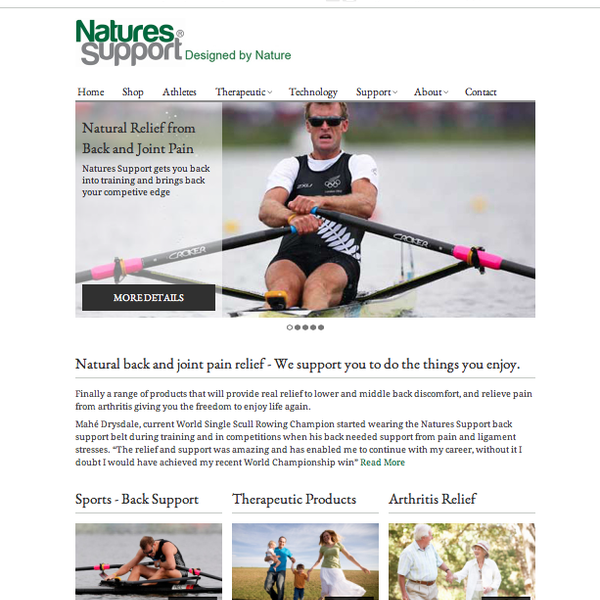 One of our highly successful clients, Nature's Support