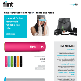Flint. A simple but effective, customized theme for product and refill options.