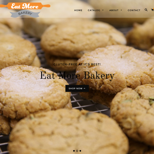 Eat More Bakery. A lovely customization of the Brooklyn theme.