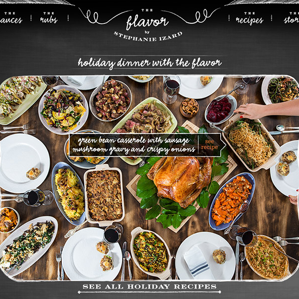 A website for chef Stephanie Izard, with an interactive image linking to recipes
