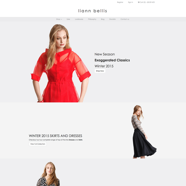 Custom Shopify theme design and development for Liann Bellis, Nelson, New Zealand