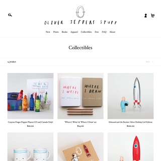 Online store for Oliver Jeffers Stuff, New York