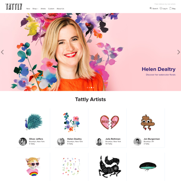 Theme customization for Tattly, Brooklyn, New York