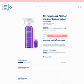 Branding, packaging design, and custom Shopify site for Dollar Clean Club, USA