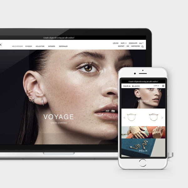 Responsive Shopify-Shop for high-end jeweller Maria Black