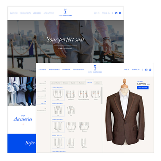 Matterhorn Digital - Ecommerce Marketer / Setup Expert - Create your perfect custom suit with King Clothiers