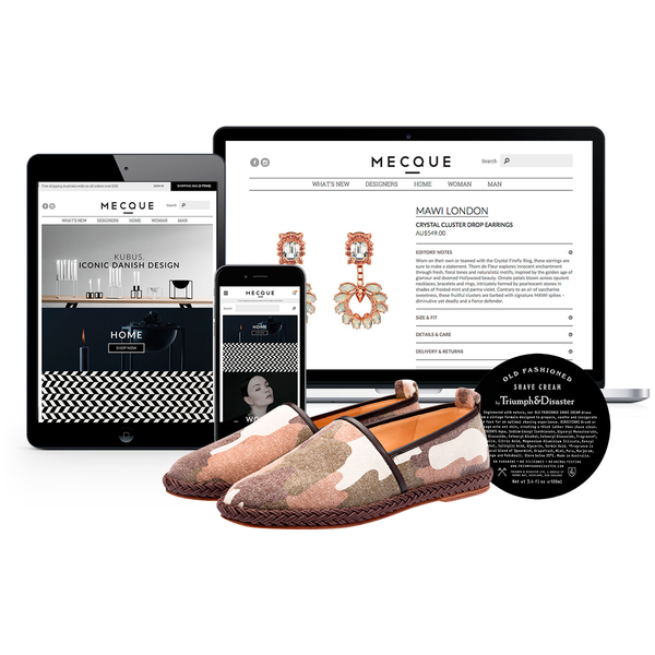An online luxury design and lifestyle store