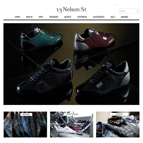 13 Nelson Street - Mens Clothing Shopify Website