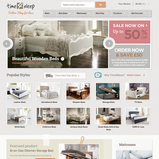 Time4Sleep - Ecommerce Bed website