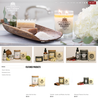 Designed and developed store for Nashville's #1 candle company Southern Firefly.
