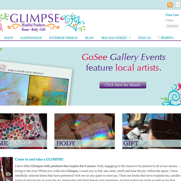 Glimpse, Gifts for the Home and Body