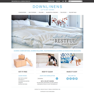 DownLinens - Ecommerce Site