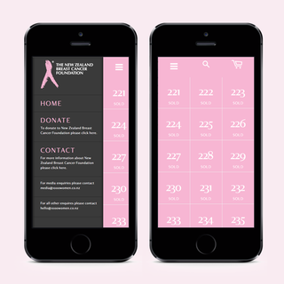 Our sleek mobile design helped supporters easily donate to New Zealand Breast Cancer Foundation