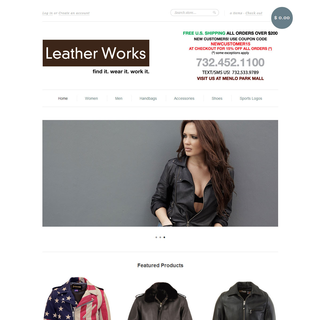 Impression Technologies LLC - Ecommerce Marketer / Setup Expert - Leather Works Home Page