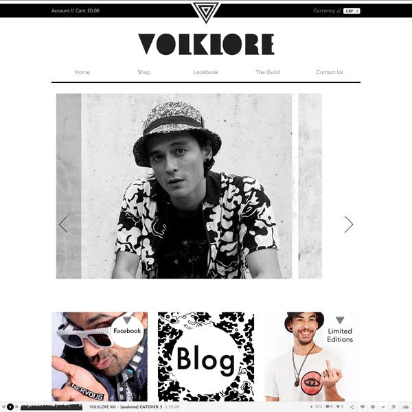 volklore.com homepage